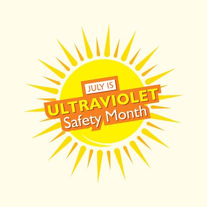 ultraviolet safety month concept poster