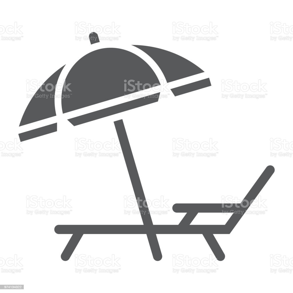 Umbrella and sun lounge glyph icon, travel and tourism, deck with sun umbrella sign vector graphics, a solid pattern on a white background, eps 10. Umbrella and sun lounge glyph icon, travel and tourism, deck with sun umbrella sign vector graphics, a solid pattern on a white background, eps 10. Azerbaijan stock vector