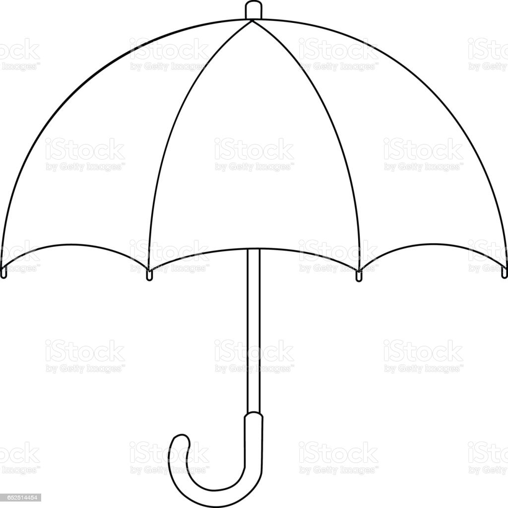 Line Drawing Umbrella : Umbrella cartoon drawing stock vector art more images of