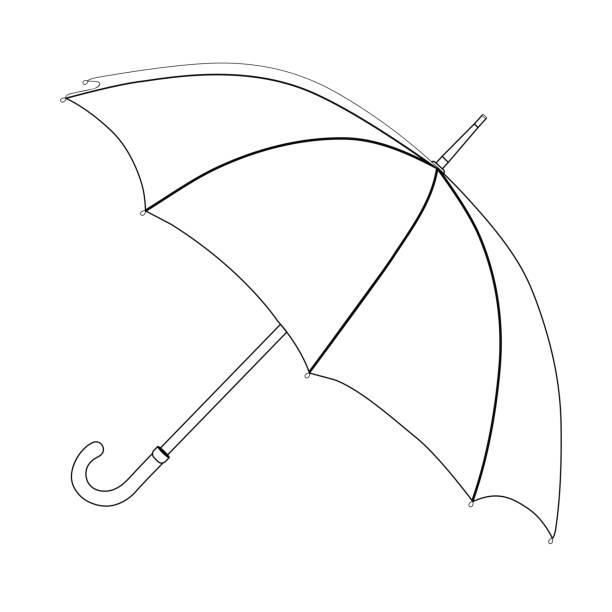 Top 60 Black And White Umbrella Clip Art, Vector Graphics ...