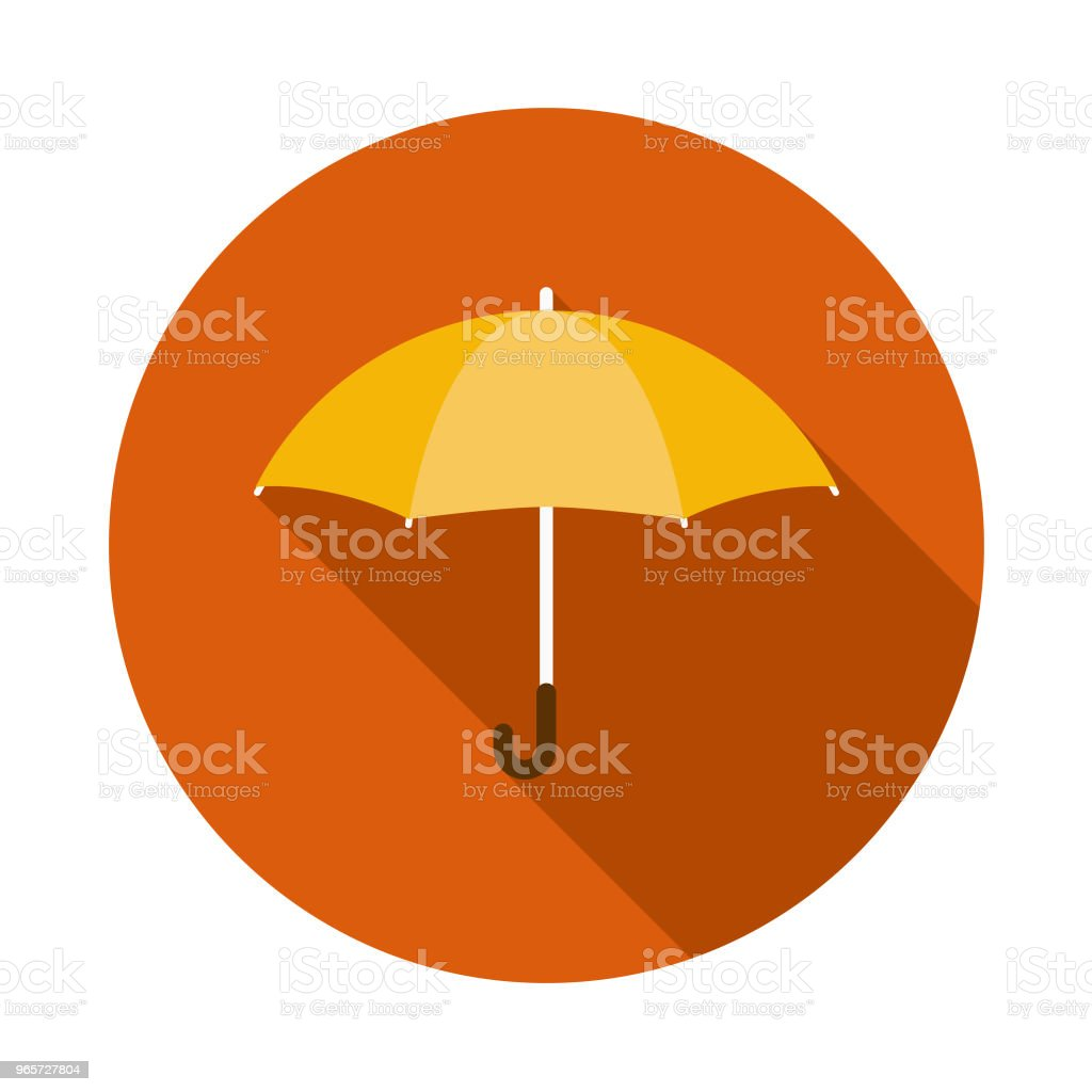 Umbrella Flat Design Autumn Icon with Side Shadow - Векторная графика Без людей роялти-фри