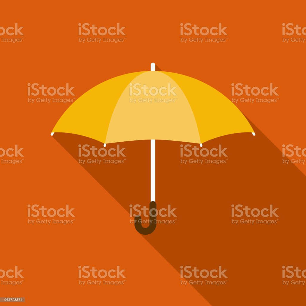 Umbrella Flat Design Autumn Icon with Side Shadow - Royalty-free Autumn stock vector