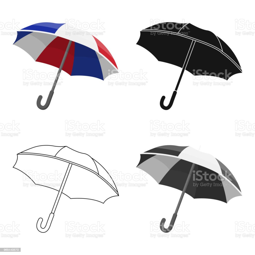 Umbrella icon in cartoon style isolated on white background. France country symbol stock vector  web illustration. royalty-free umbrella icon in cartoon style isolated on white background france country symbol stock vector web illustration stock vector art & more images of art and craft
