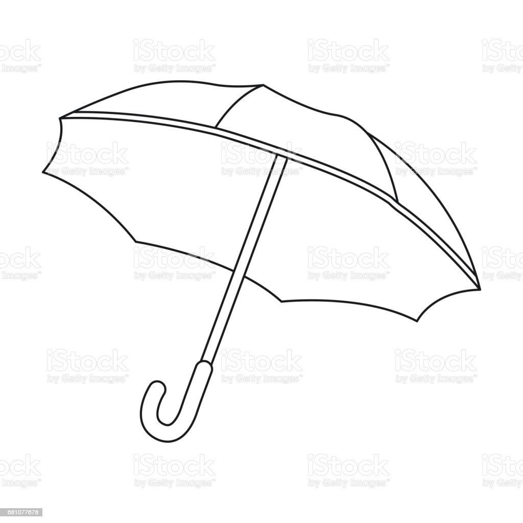 Umbrella icon in outline style isolated on white background. France country symbol stock vector illustration. royalty-free umbrella icon in outline style isolated on white background france country symbol stock vector illustration stock vector art & more images of arts culture and entertainment