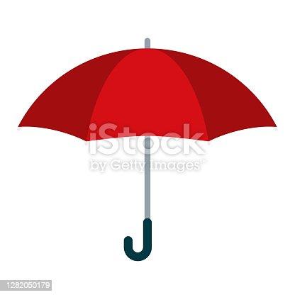 istock Umbrella Icon on Transparent Background 1282050179