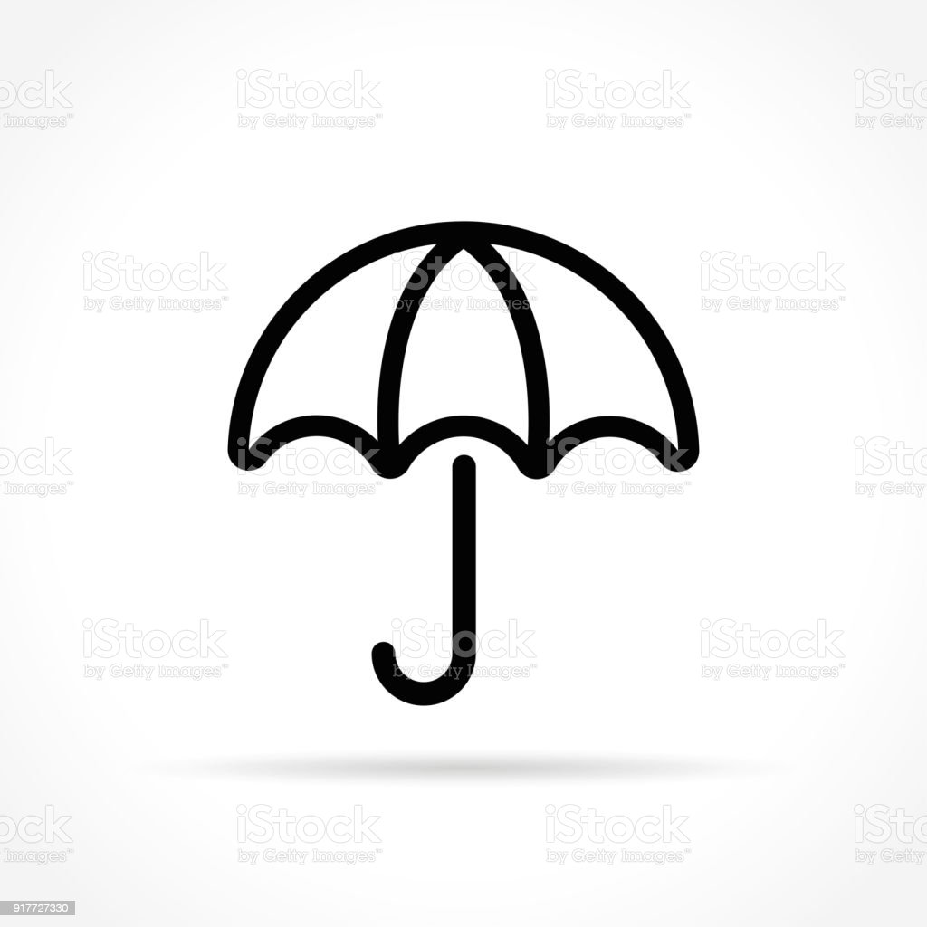 Umbrella Icon On White Background Royalty Free Stock Vector Art