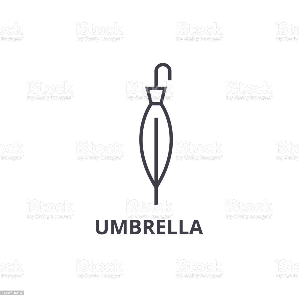 Umbrella Line Icon Outline Sign Linear Symbol Vector Flat