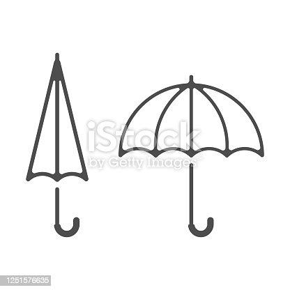 istock Umbrella Line Icon Vector Design. 1251576635