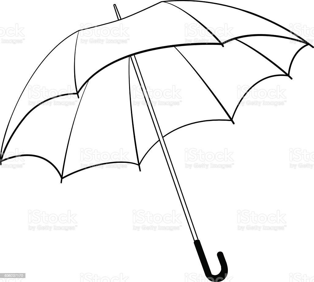 Line Art Umbrella : Umbrella line icon weather symbol stock vector art more
