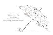 umbrella low poly gray