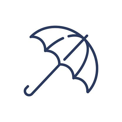 Umbrella outline thin line icon