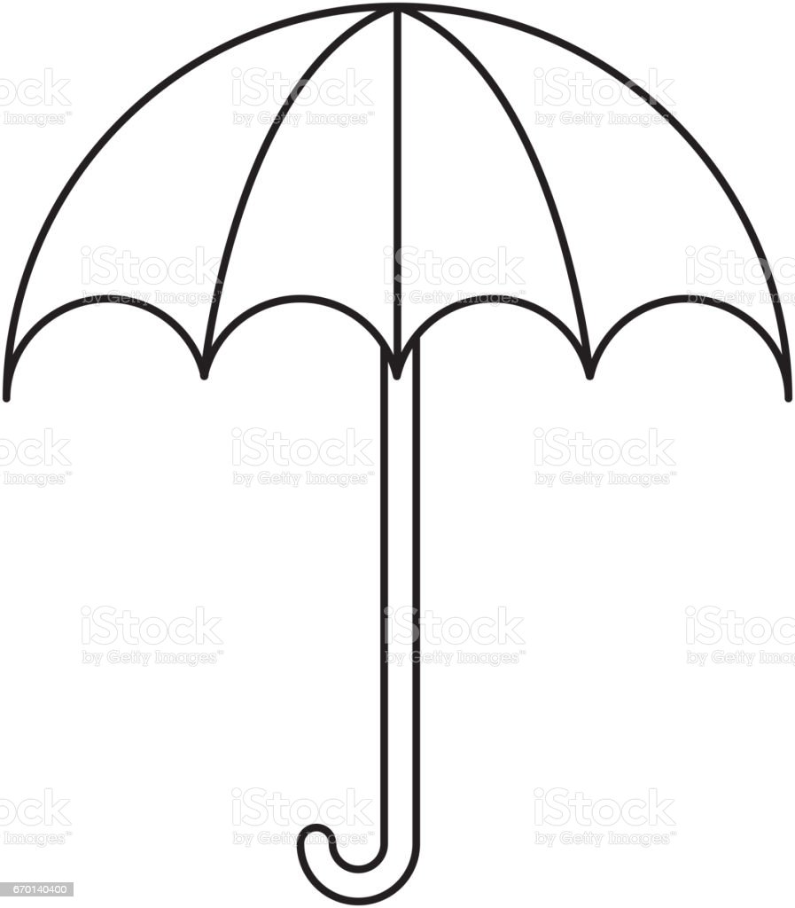 Umbrella Packing Symbol Icon Stock Vector Art More Images Of