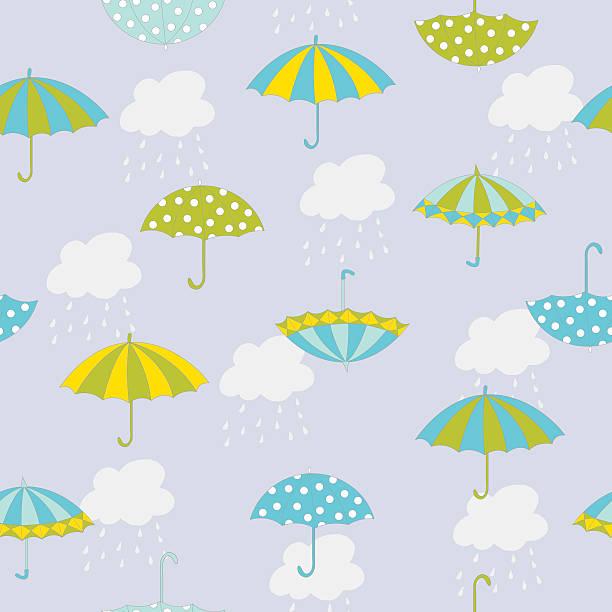 Umbrella pattern vector art illustration