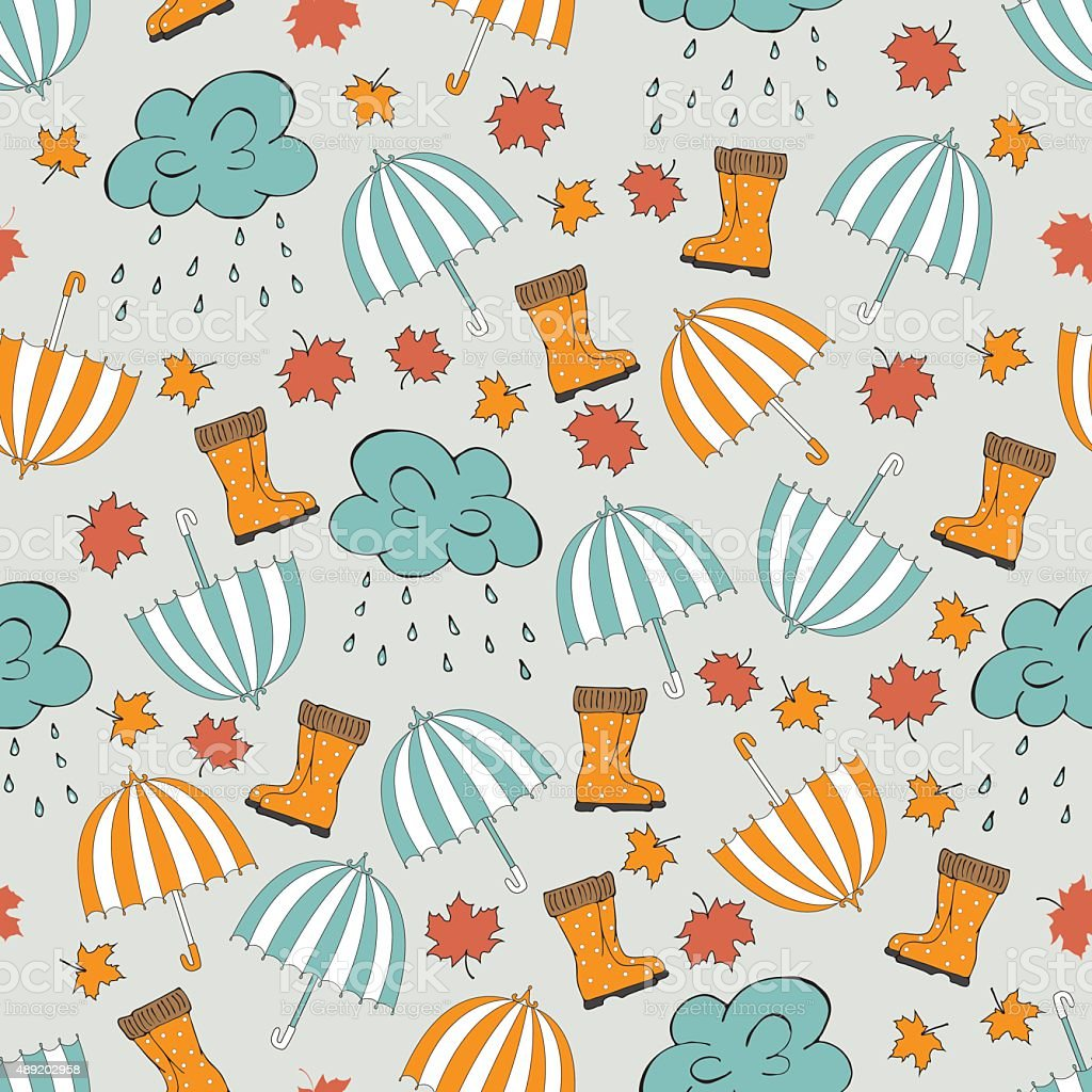 Umbrella pattern royalty-free umbrella pattern stock vector art & more images of snow boot
