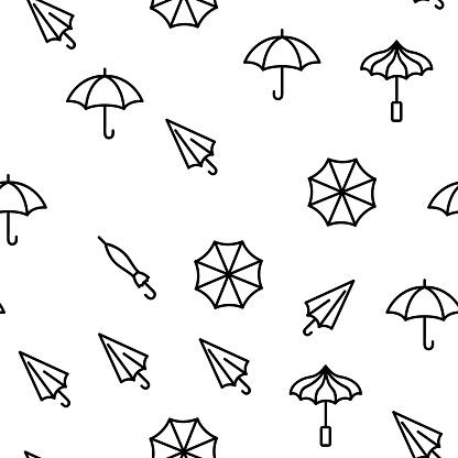 Umbrella Rain Protect Vector Seamless Pattern