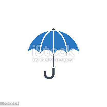 istock Umbrella related vector glyph icon. 1205338409