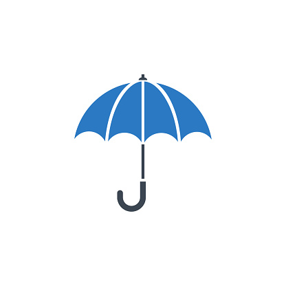 Umbrella related vector glyph icon.
