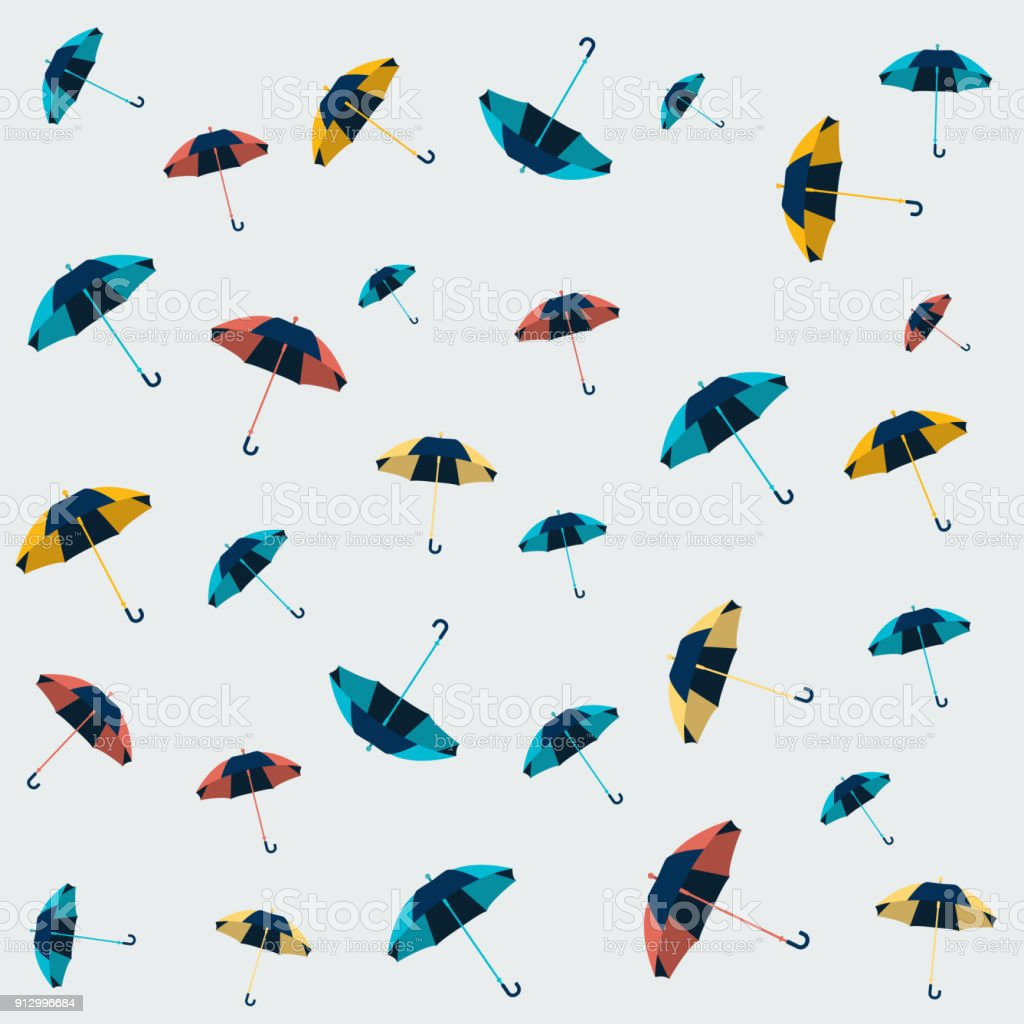 Umbrella Seamless Pattern Design Wallpaper Textile Background Royalty Free