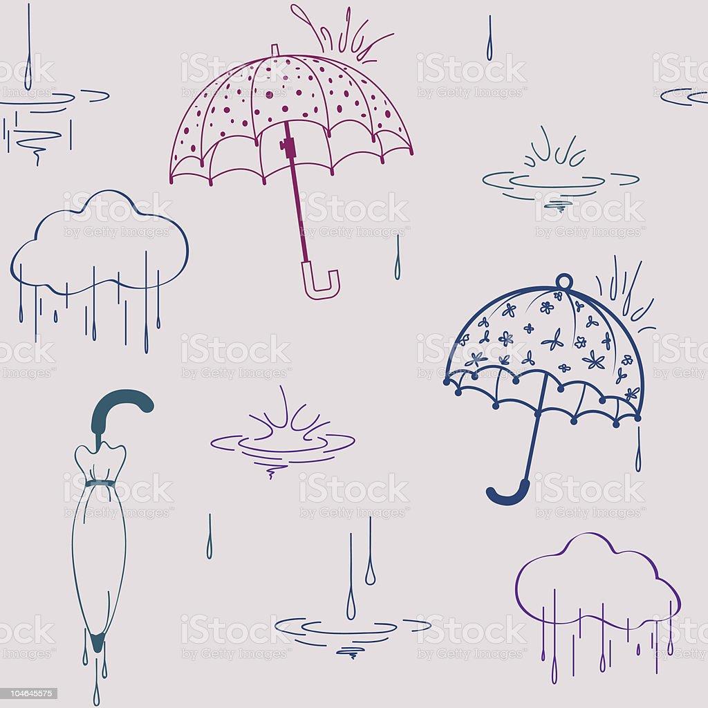 Umbrella seamless royalty-free stock vector art