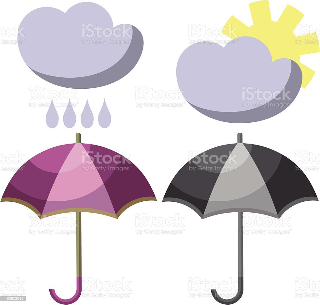 Umbrella set 001 royalty-free umbrella set 001 stock vector art & more images of abstract