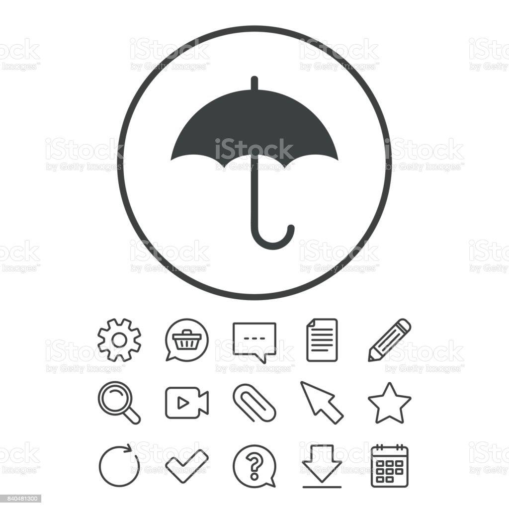 Umbrella Sign Icon Rain Protection Symbol Stock Vector Art More