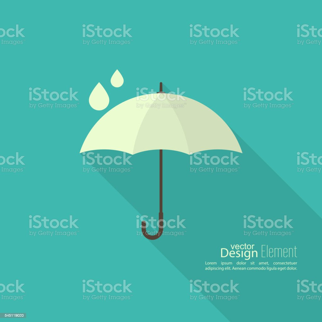 Umbrella sign icon. vector art illustration