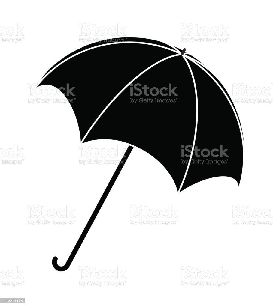 ff04f95ad Umbrella silhouette, outline vector symbol icon design. royalty-free  umbrella silhouette outline vector. Open comp