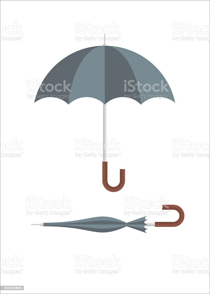 umbrella simple illustration vector art illustration