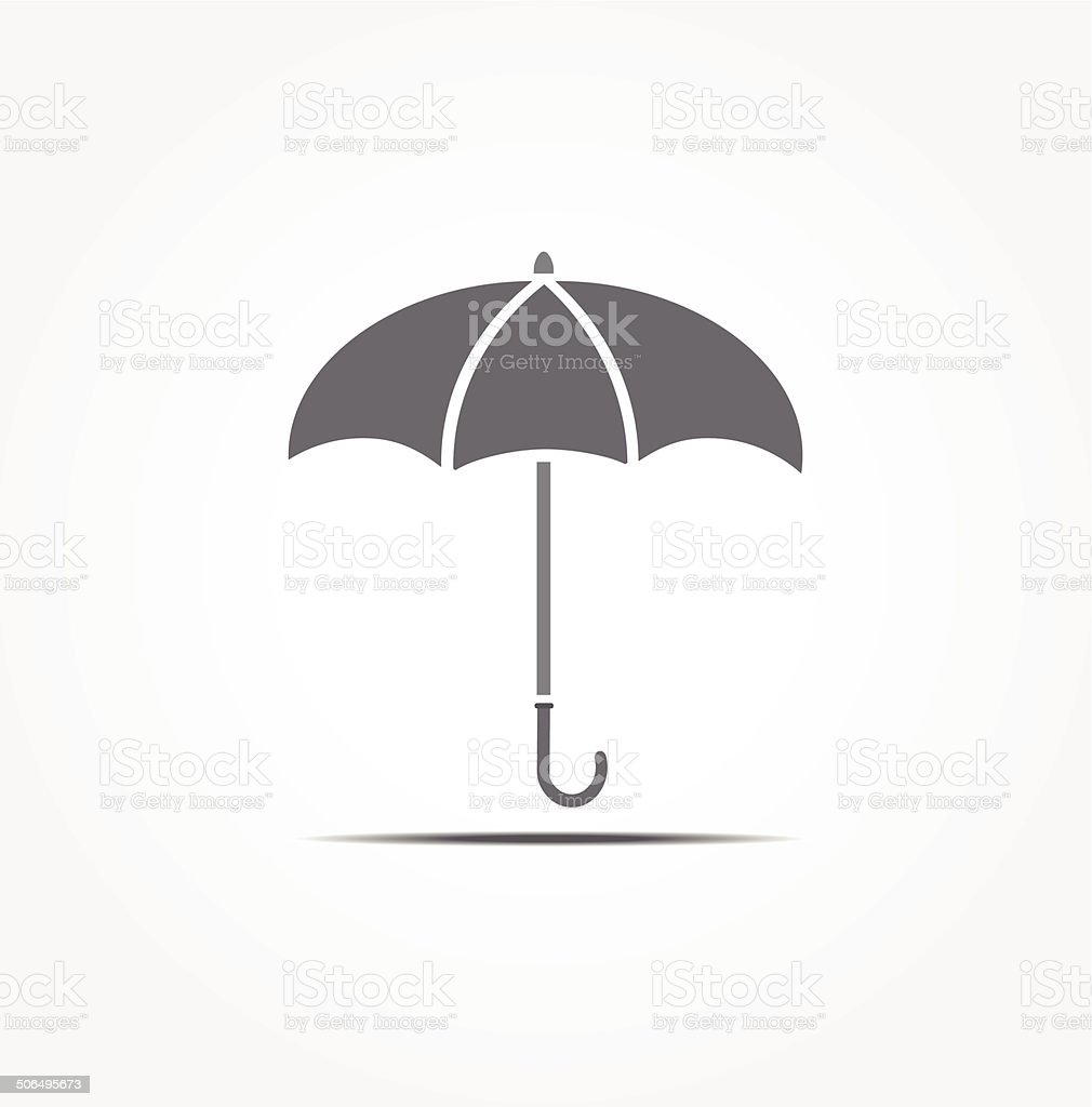 Umbrella vector icon royalty-free stock vector art