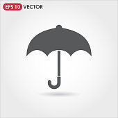 umbrella single vector icon on light background
