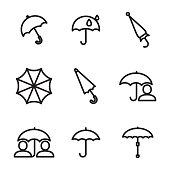 Umbrella vector icons
