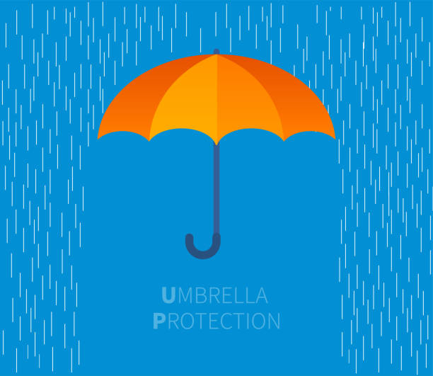 parasol - deszcz stock illustrations