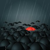 Red Umbrella.Layer Mask And Layer using a transparent effect .EPS10.0