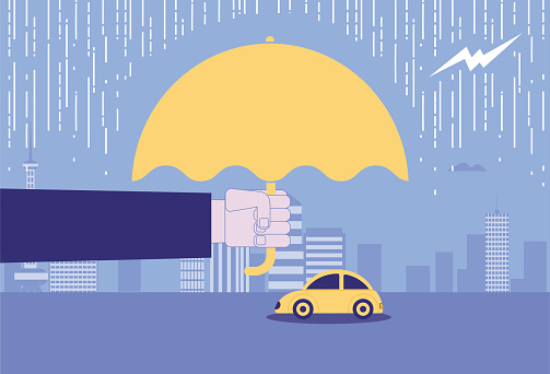 Umbrellas for cars to cover thunderstorms, car insurance