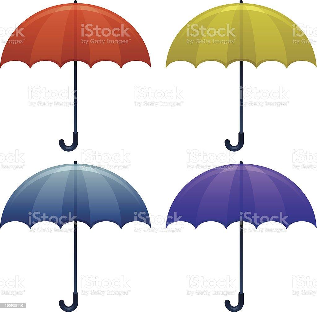 Umbrellas vector art illustration