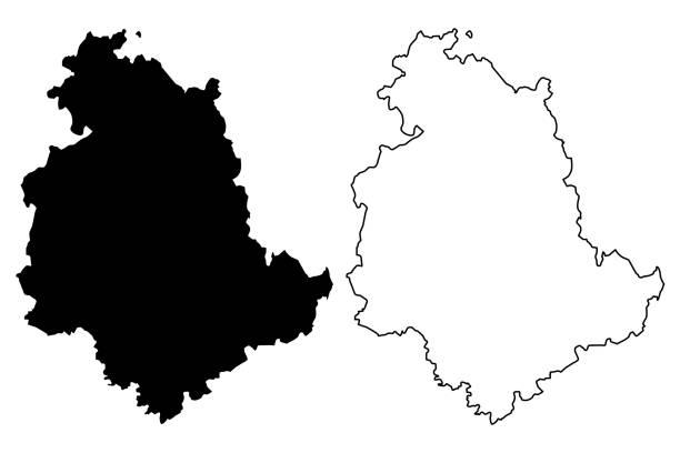 Umbria map vector Umbria (Autonomous region of Italy) map vector illustration, scribble sketch Umbria map umbria stock illustrations