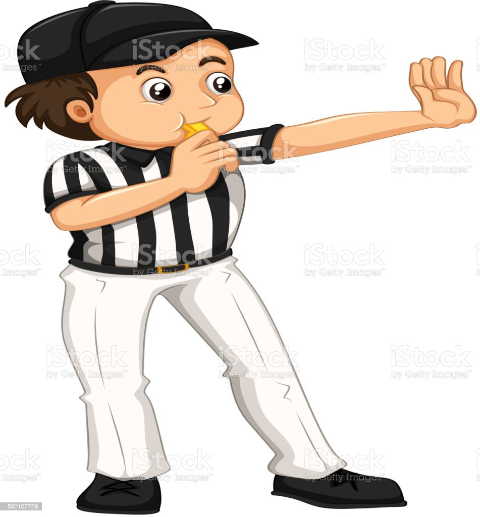 royalty free baseball referee clip art vector images rh istockphoto com referee clipart free basketball referee clipart