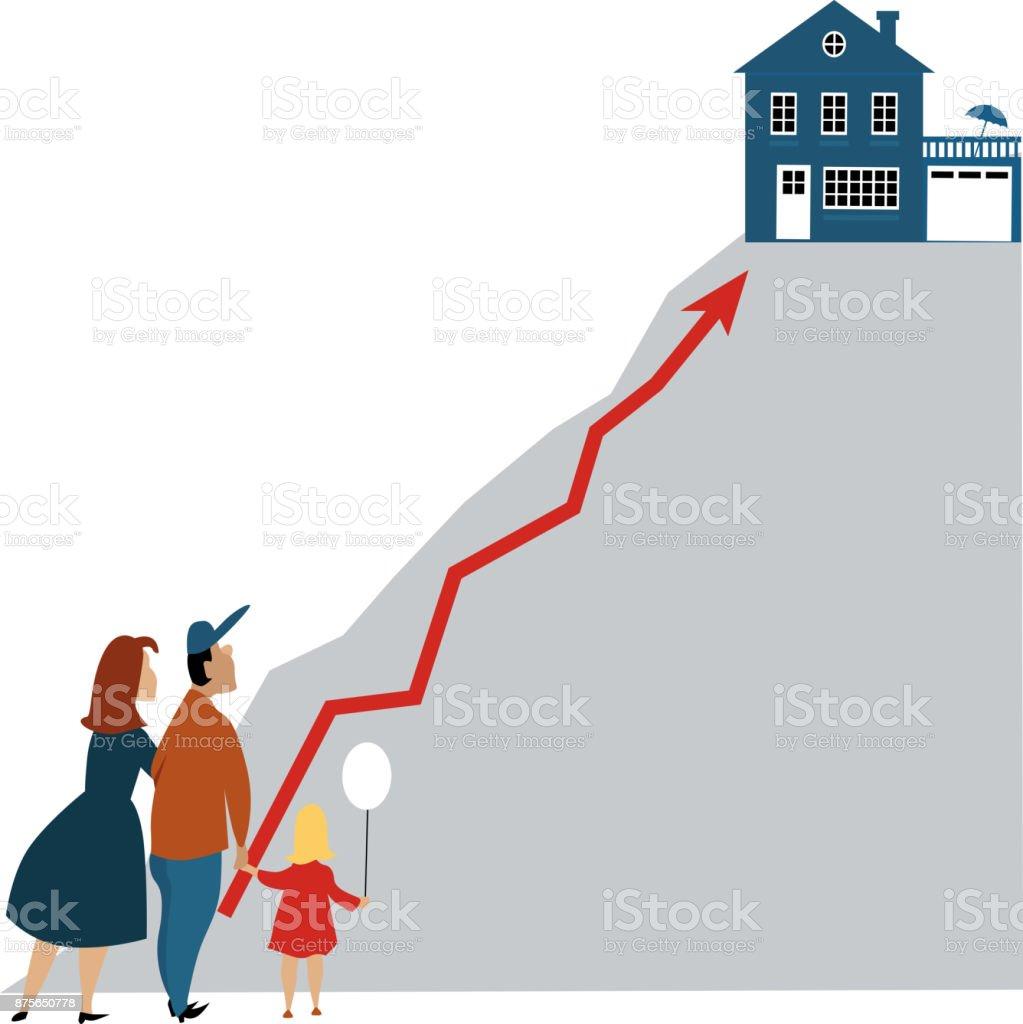 Un-affordable home vector art illustration