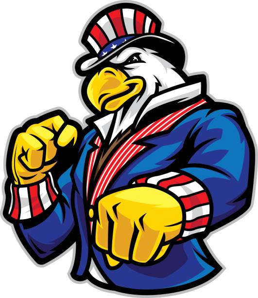 Uncle Sam Eagle vector art illustration