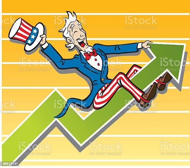 Tio Sam Economia Rode - Arte vetorial de stock e mais imagens de Adulto