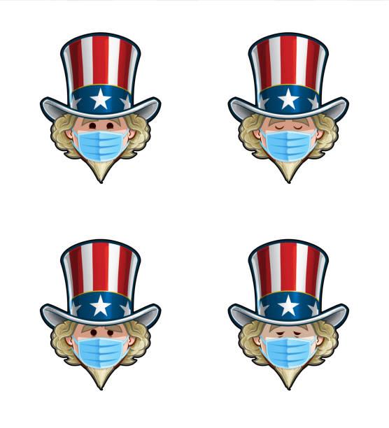 Uncle Sam Vector Emoticons 87197 Vector Art at Vecteezy