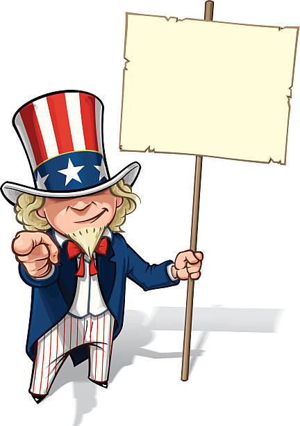 uncle sam'i want 고객님께서는 플래카드 - family 4th of july stock illustrations