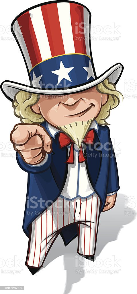 royalty free uncle sam clip art vector images illustrations istock rh istockphoto com uncle sam hat clipart uncle sam clip art black and white