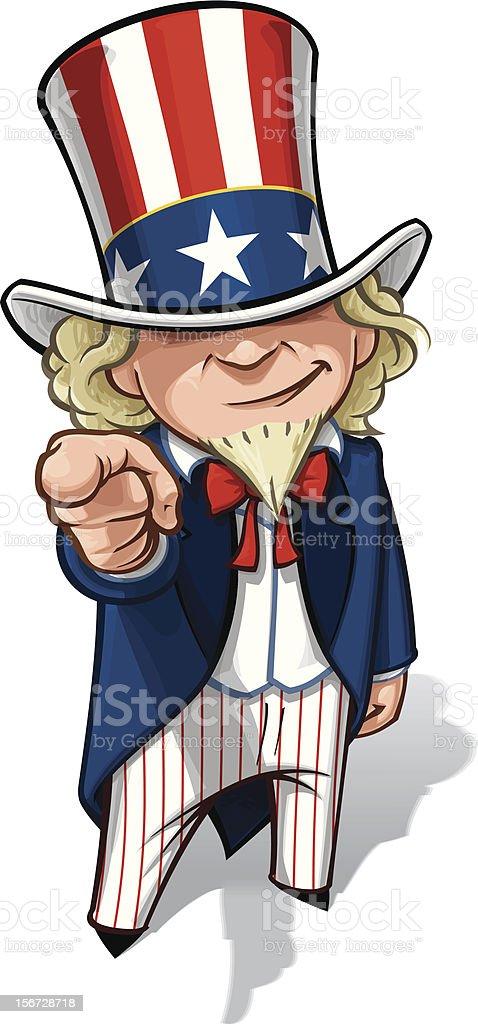 Uncle Sam 'I Want You' vector art illustration
