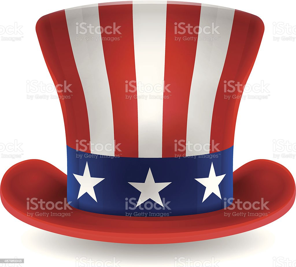 royalty free uncle sam hat clip art vector images illustrations rh istockphoto com Bing Images of Uncle Sam Beach Clip Art