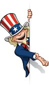 Uncle Sam Presenting a Banner