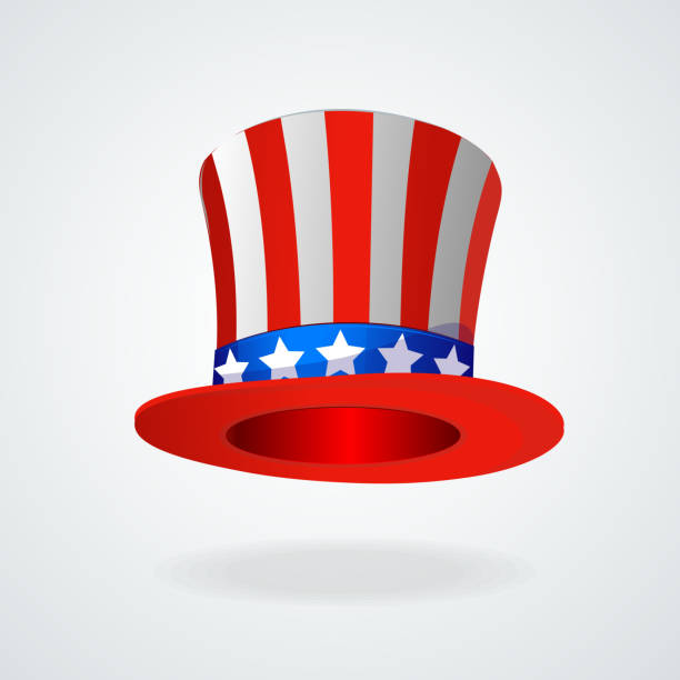Uncle Sam's hat vector. 4 of July celebration icon Uncle Sam's hat vector. 4 of July celebration icon . surface to air missile stock illustrations