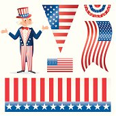 Uncle Sam's Stars and Stripes