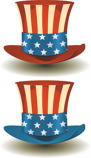 Uncle Sam's Top Hat For American Holidays
