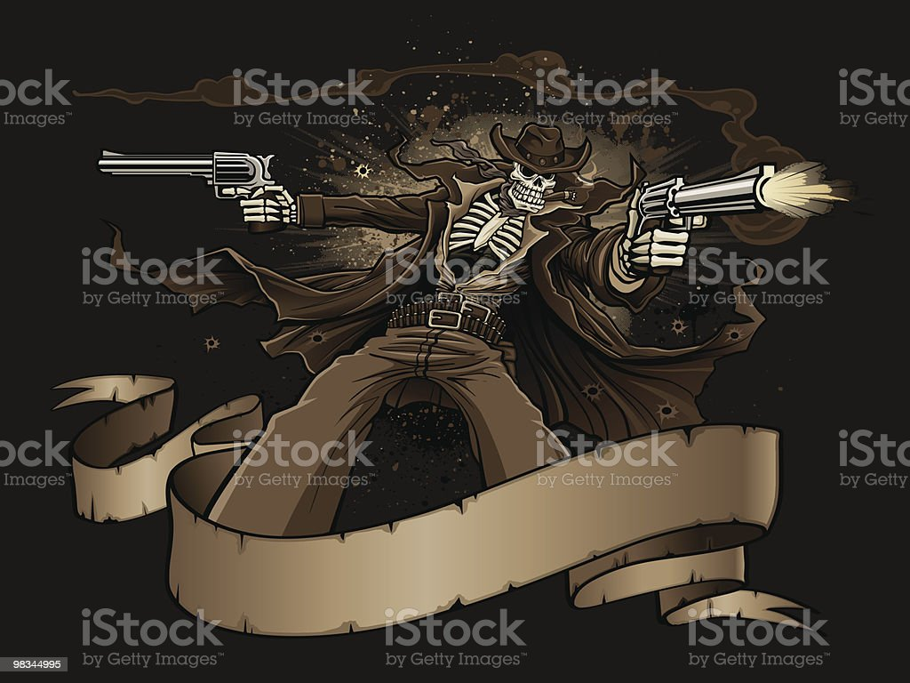 Undead Gunslinger from Hell royalty-free undead gunslinger from hell stock vector art & more images of aggression